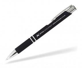 Goldstar Crosby LJL Soft Touch Kugelschreiber incl Gravur Pantone black schwarz