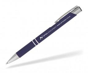 Goldstar Crosby LJL Soft Touch Kugelschreiber incl Gravur Pantone 289 dunkelblau
