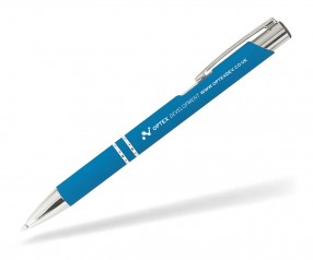 Goldstar Crosby LJQ Soft Touch Kugelschreiber incl Gravur Pantone 7690 hellblau