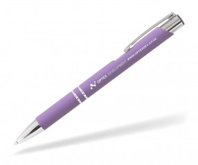 Goldstar Crosby LJQ Soft Touch Kugelschreiber incl Gravur Pantone 2645 lila