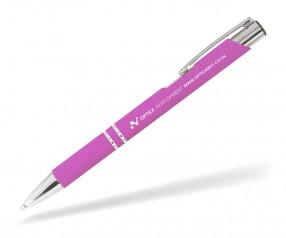 Goldstar Crosby LJQ Soft Touch Kugelschreiber incl Gravur Pantone 674 pink rosa