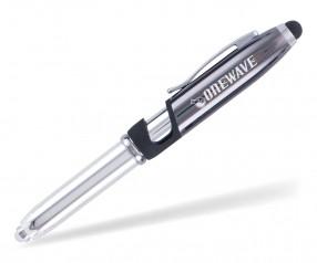 Goldstar Brando Soft-Touch MHN LED Kugelschreiber mit Taschenlampe Anthrazit (PMS 2336)
