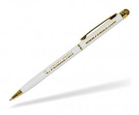 Goldstar Minnelli Gold Stylus Kugelschreiber MMI Pantone White weiß