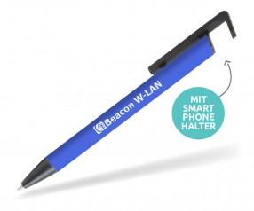 Goldstar Cline MKM Softtouch Kugelschreiber mit Smartphone Halter blau 2146