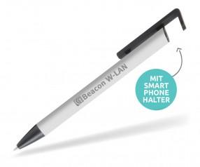 Goldstar Cline MKM Softtouch Kugelschreiber mit Smartphone Halter hellgrau