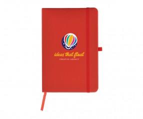 Goldstar Wilde Soft-Touch Notizbuch NOX-NOY-NOZ Rot (PMS 19-1664) verschiedene Größen
