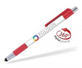 Goldstar Astaire PGG 360 Grad Rundumdruck Kugelschreiber Rot (PMS 1795)