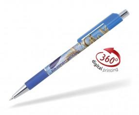Goldstar Doris PGS 360 Grad Rundumdruck Kugelschreiber Pantone 2172 Blau