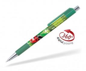 Goldstar Doris PGS 360 Grad Rundumdruck Kugelschreiber Pantone 7727 Grün
