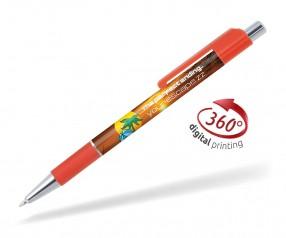 Goldstar Doris PGS 360 Grad Rundumdruck Kugelschreiber Pantone 1795 Rot