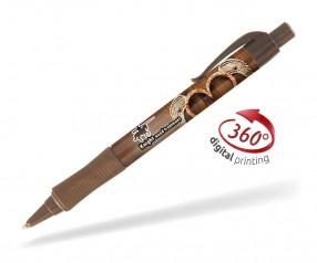 Goldstar Hepburn PHT inkl 360 Grad Druck Kugelschreiber Pantone 7519 Braun