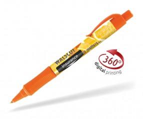 Goldstar Hepburn PHT inkl 360 Grad Druck Kugelschreiber Pantone 165 Orange