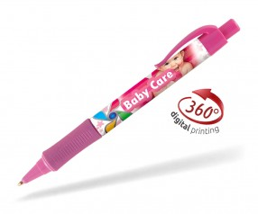 Goldstar Hepburn PHT inkl 360 Grad Druck Kugelschreiber Pantone 224 Rosa