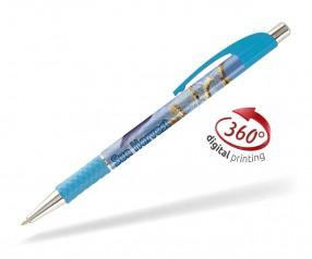 Goldstar Le Beau PWA inkl 360 Grad Druck Kugelschreiber Pantone 2143 Hellblau
