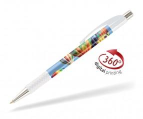 Goldstar Le Beau PWA inkl 360 Grad Druck Kugelschreiber Pantone Weiss
