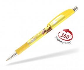 Goldstar Le Beau PWA inkl 360 Grad Druck Kugelschreiber Pantone 101 Gelb