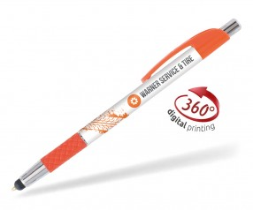 Goldstar Le Beau Grip Touchpen PWC inkl 360 Grad Druck Pantone 1505 Orange