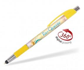 Goldstar Le Beau Grip Touchpen PWC inkl 360 Grad Druck Pantone 108 Gelb