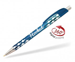 Goldstar Le Beau Ombre Kugelschreiber PWH inkl 360 Grad Druck Pantone 7462 Blau