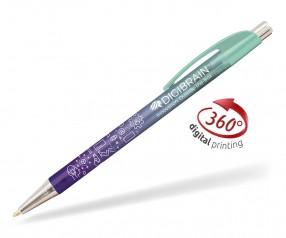 Goldstar Le Beau Ombre Kugelschreiber PWH inkl 360 Grad Druck Pantone 332 Neo Mint