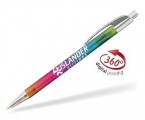 Goldstar Le Beau Ombre Kugelschreiber PWH inkl 360 Grad Druck Pantone Cool Grey 4 Silber