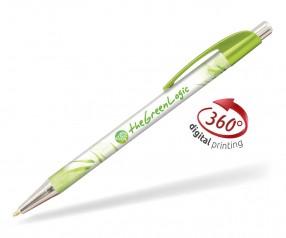 Goldstar Le Beau Chrome Kugelschreiber PWI inkl 360 Grad Druck Pantone 2300 Limonengrün