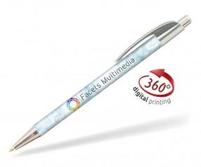 Goldstar Le Beau Chrome Kugelschreiber PWI inkl 360 Grad Druck Pantone Cool Grey 5 Silber
