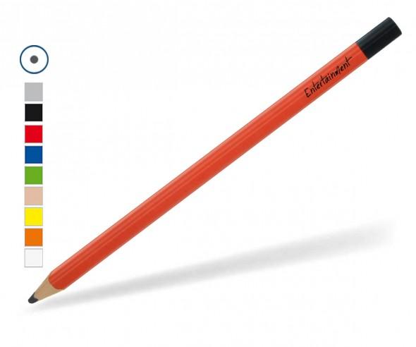 Großer XXL Bleistift rund mit farbiger Tauchkappe, gespitzt