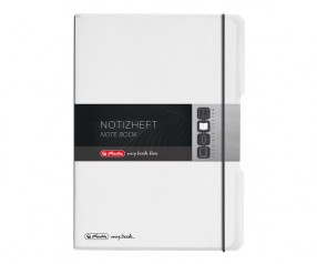 Herlitz Notizheft my book flex PP A4 farblos 1x40