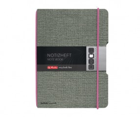 Herlitz Notizheft my book flex A4 Leinenoptik pink