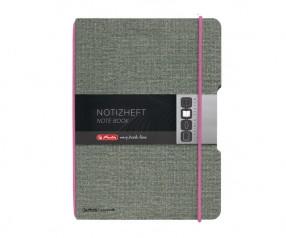 Herlitz Notizheft my book flex A4 Leinenoptik pink