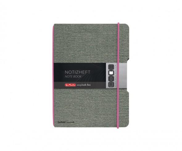 Herlitz Notizheft my book flex A5 Leinenoptik pink
