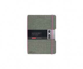 Herlitz Notizheft my book flex A6 Leinen pink
