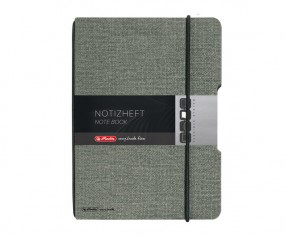 Herlitz Notizheft my book flex A4 Leinenoptik schwarz