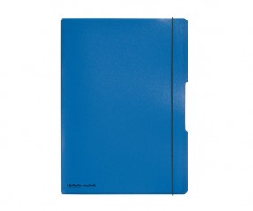 Herlitz Notizheft my book flex PP A4 blau