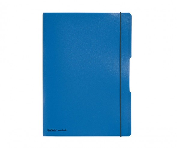Herlitz Notizheft my book flex PP A4 blau