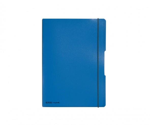 Herlitz Notizheft my book flex PP A5 blau