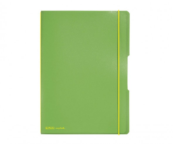 Herlitz Notizheft my book flex PP A4 grün