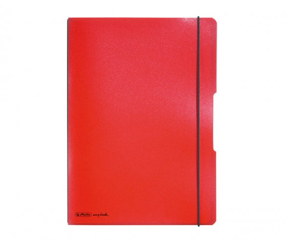 Herlitz Notizheft my book flex PP A4 rot