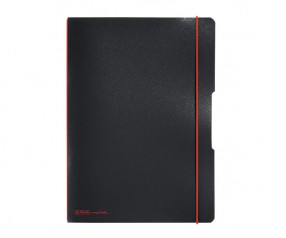 Herlitz Notizheft my book flex PP A4 schwarz