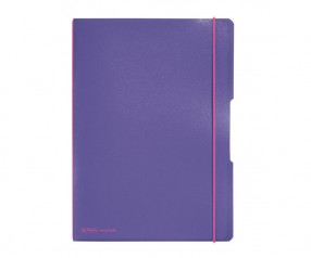 Herlitz Notizheft my book flex PP A4 lila