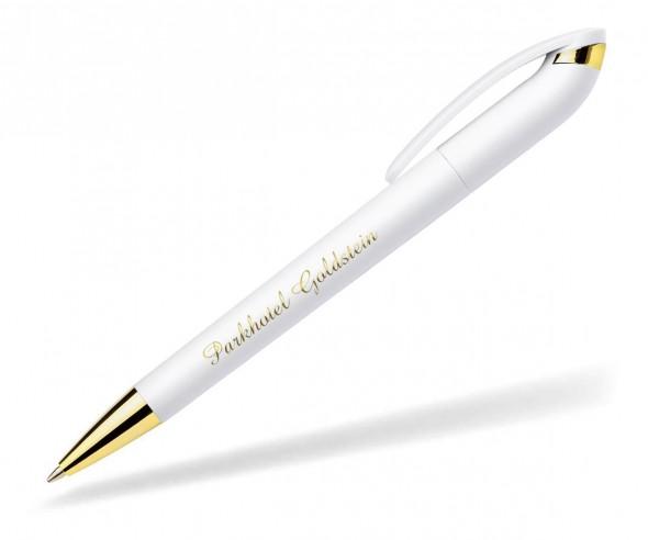 Exclusiver Kugelschreiber Beo Avantgarde 210 Manhattan weiss gold