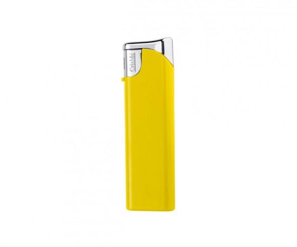 CrisMa Elektronik-Feuerzeug nachfüllbar, gelb