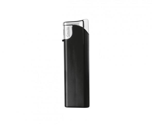 CrisMa Elektronik-Feuerzeug nachfüllbar, schwarz