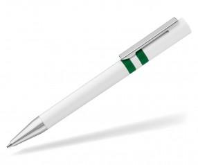 UMA RINGO Kugelschreiber 0-0045 weiss dunkelgrün