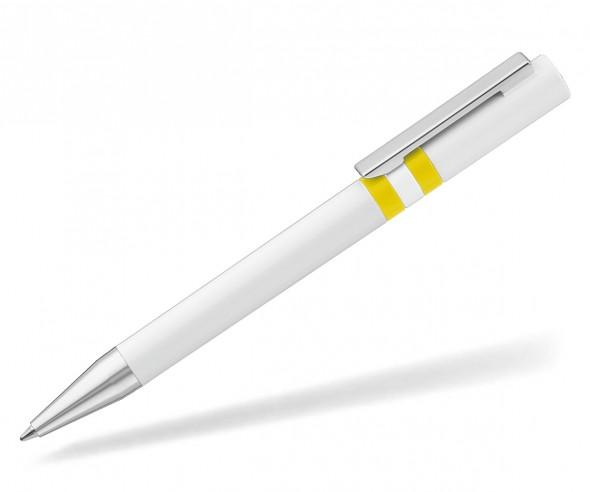UMA RINGO Kugelschreiber 0-0045 weiss gelb