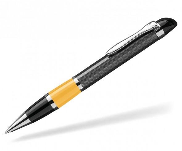 UMA Kugelschreiber NOBILIS 0-8900 Carbon gelb