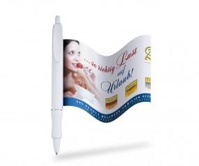 Info-Pen 1104 Basic Kugelschreiber incl. 4c Druck auf integriertem Papier, WEISS