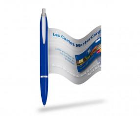 Info Pen 1101 Classic Kugelschreiber incl. 4c Druck auf Werbefahne, BLAU
