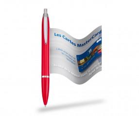 Info Pen 1101 Classic Kugelschreiber incl. 4c Druck auf Werbefahne, ROT